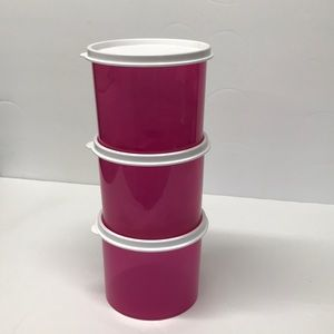 Loving Pink Storage Containers, Set of 3